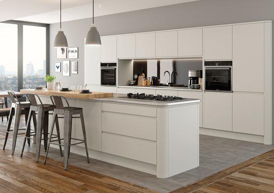 Strada Handleless Kitchen Design - Alan Kelly Kitchens - Waterford