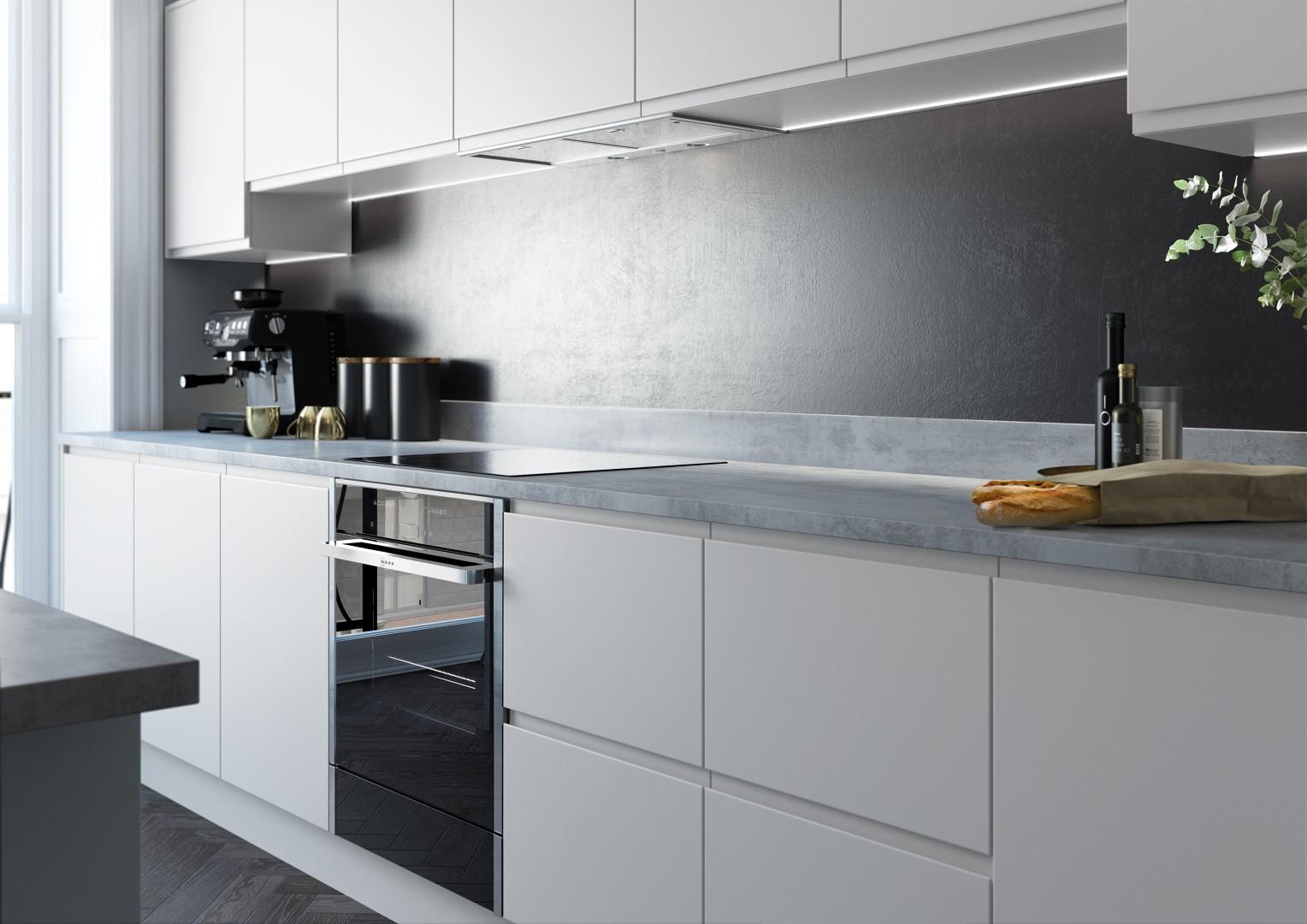 Strada Matte Light Grey and Dust Grey - Kitchen Design - Alan Kelly Kitchens - Waterford - 1