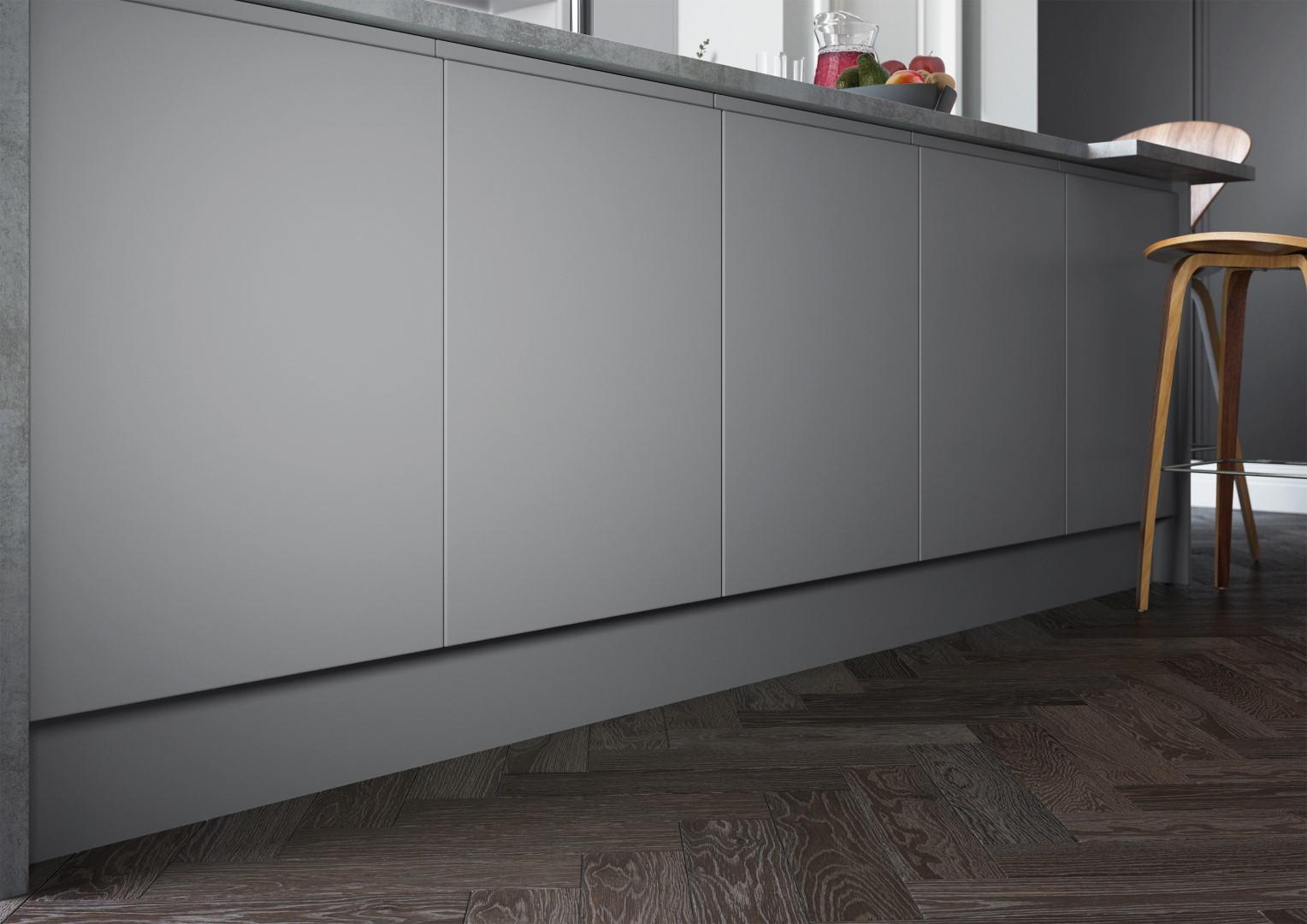 Strada Matte Light Grey and Dust Grey - Kitchen Design - Alan Kelly Kitchens - Waterford - 2