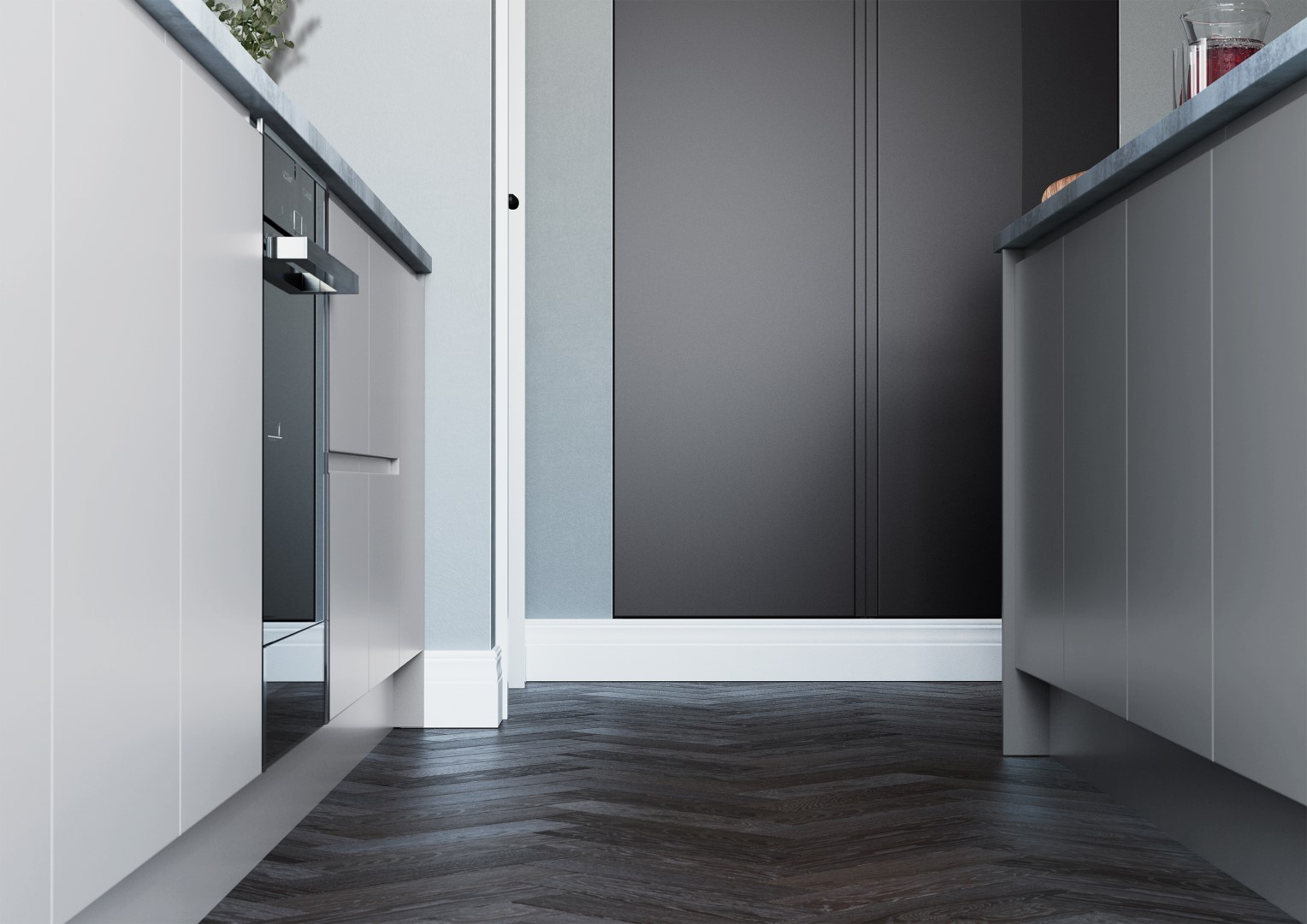 Strada Matte Light Grey and Dust Grey - Kitchen Design - Alan Kelly Kitchens - Waterford - 3