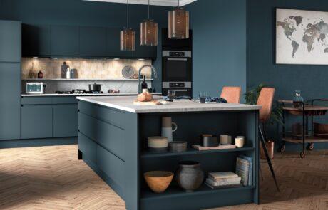 Strada Matte Marine - Kitchen Design - Alan Kelly Kitchens - Waterford - 1