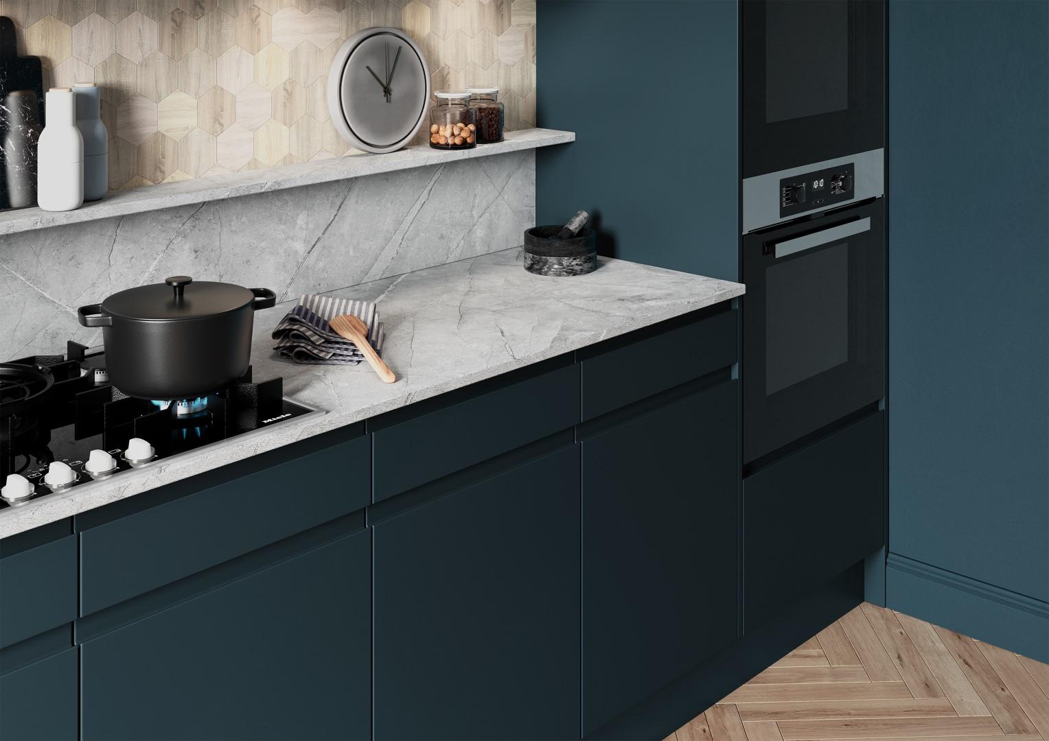 Strada Matte Marine - Kitchen Design - Alan Kelly Kitchens - Waterford - 2