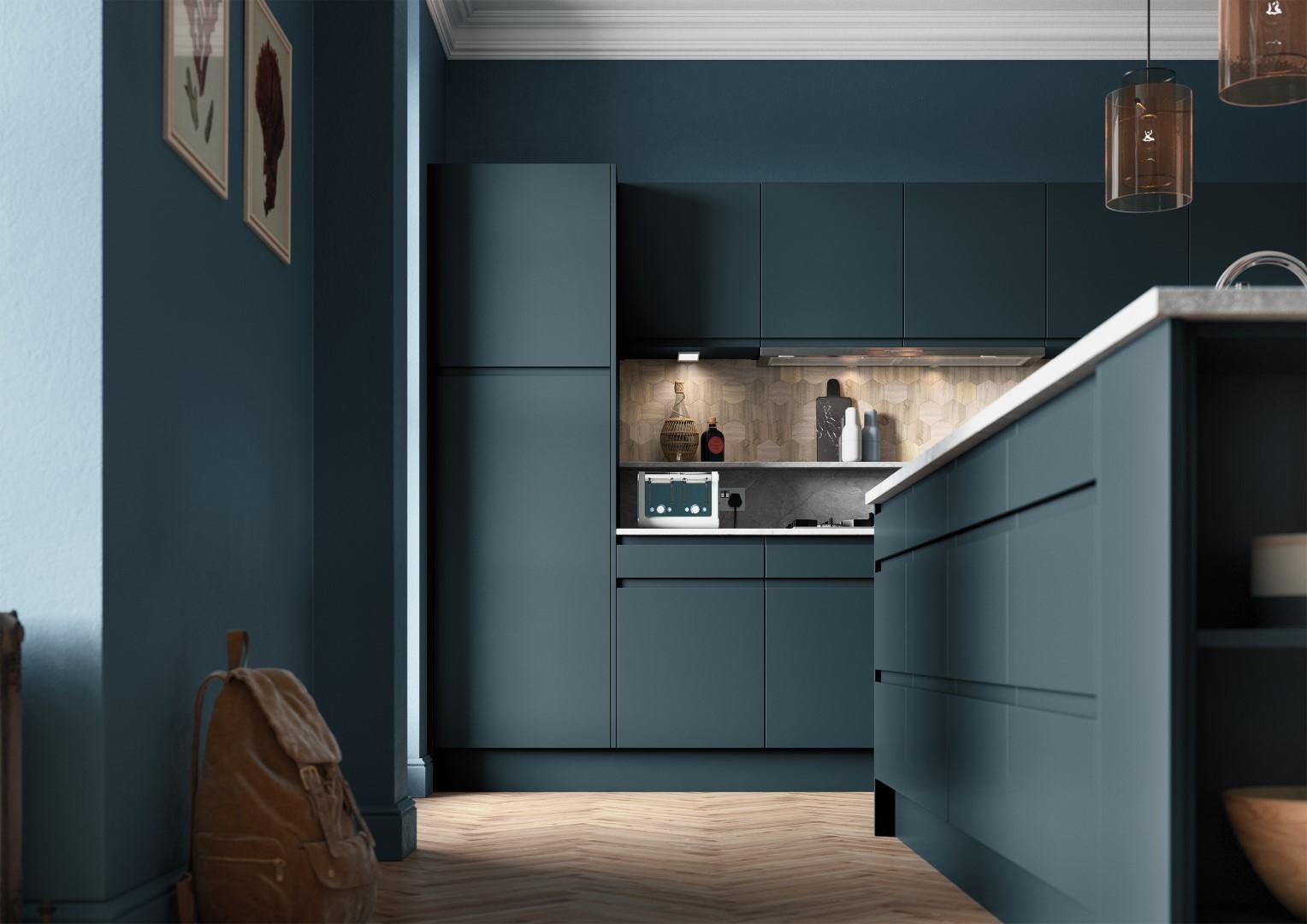 Strada Matte Marine - Kitchen Design - Alan Kelly Kitchens - Waterford - 3