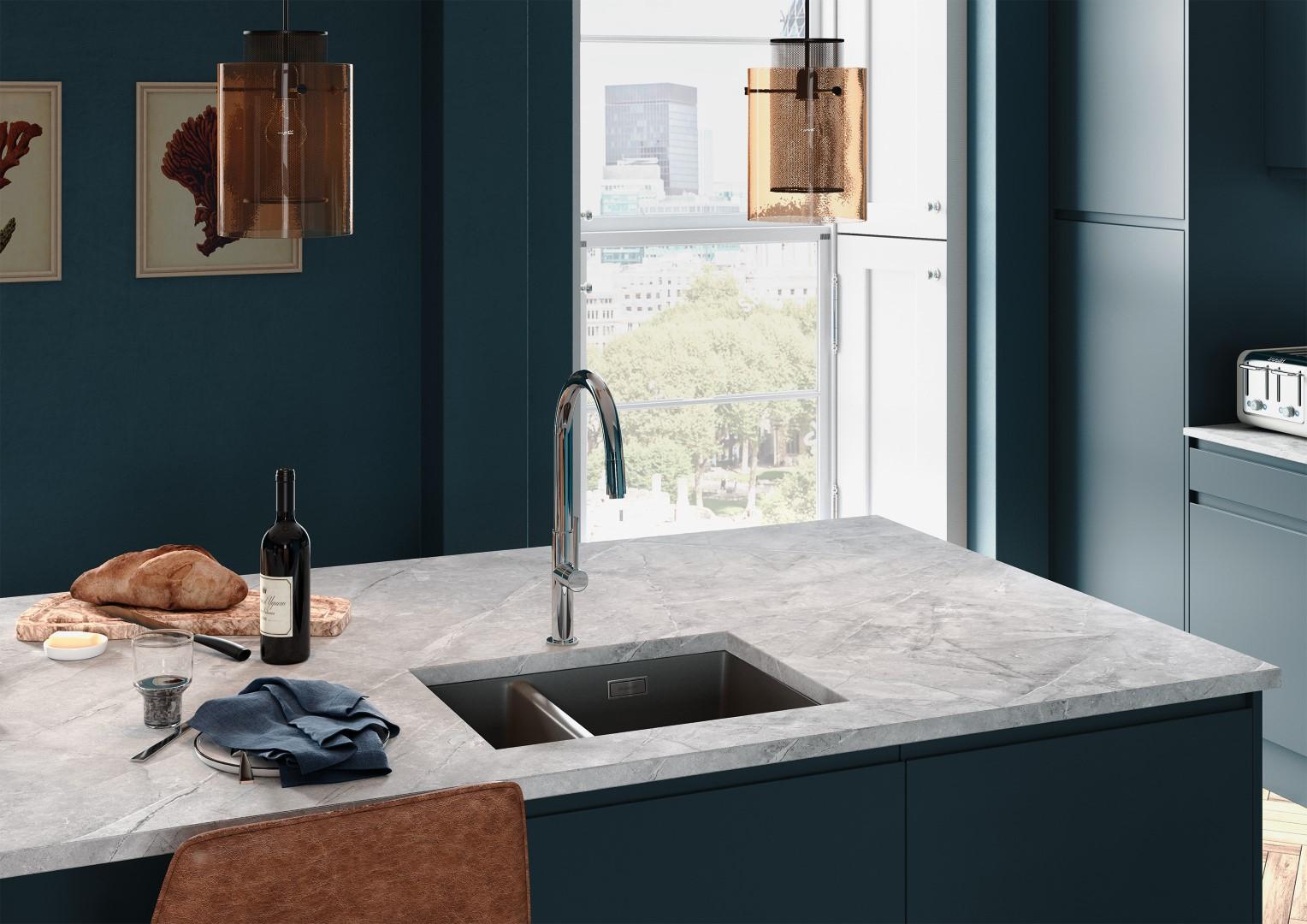 Strada Matte Marine - Kitchen Design - Alan Kelly Kitchens - Waterford - 4