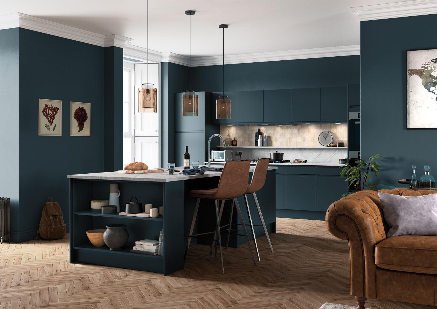 Strada Matte Marine - Kitchen Design - Alan Kelly Kitchens - Waterford - 5