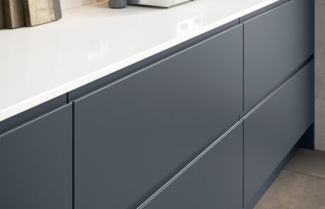 Strada Matte Slate Blue with Rezana stained Espresso - Kitchen Design - Alan Kelly Kitchens - Waterford - 2