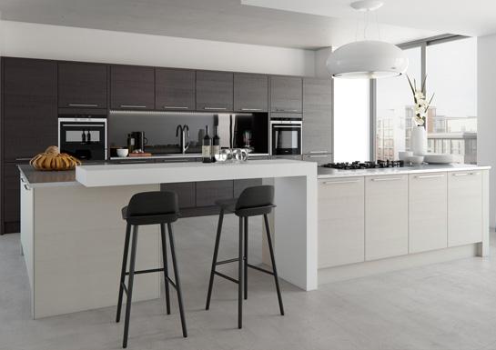 Tavola Handleless Kitchen Design - Alan Kelly Kitchens - Waterford