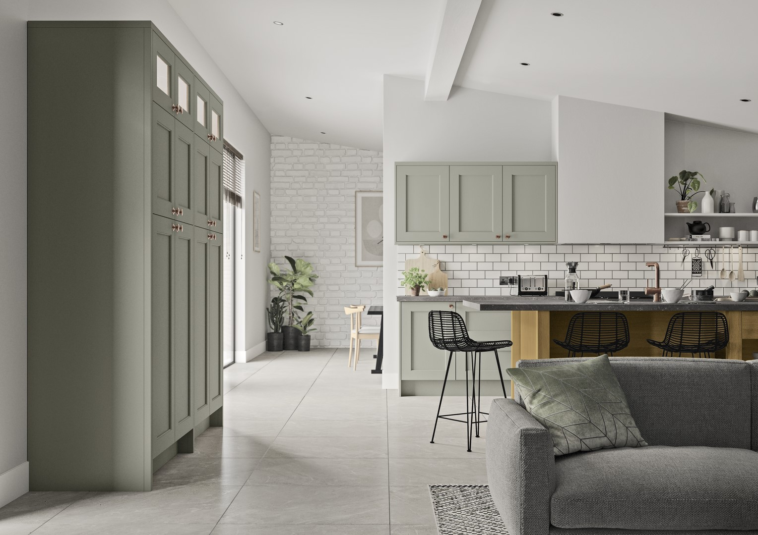 Wakefield Cardamom and Light Oak - Kitchen Design - Alan Kelly Kitchens - Waterford - 2