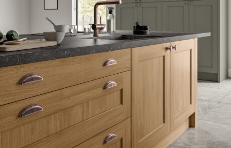 Wakefield Cardamom and Light Oak - Kitchen Design - Alan Kelly Kitchens - Waterford - 3