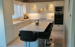Wakefield Kitchen Door, Porcelain Colour Main Kitchen, Light Grey Island - Alan Kelly Kitchens Waterford - 1
