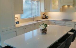 Wakefield Kitchen Door, Porcelain Colour Main Kitchen, Light Grey Island - Alan Kelly Kitchens Waterford - 3