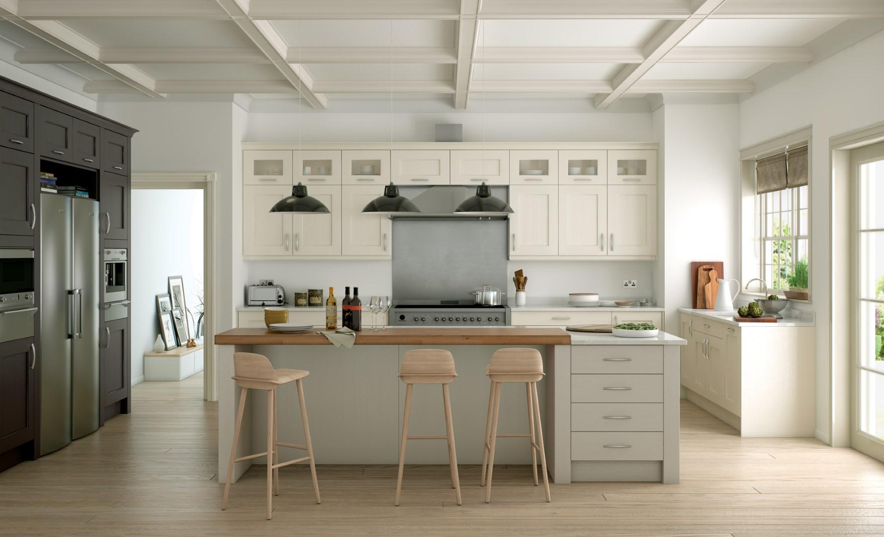 Wakefield Painted Ivory Stone Lava Kitchen - Kitchen Design - Alan Kelly Kitchens - Waterford