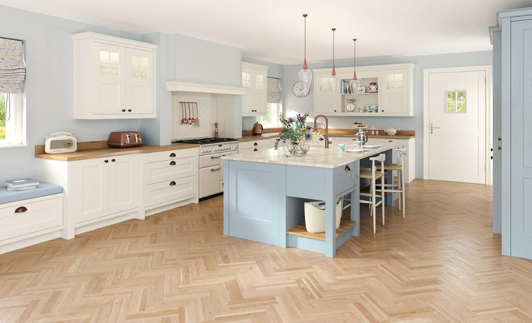 Wakefield Porcelain Pantry Blue Kitchen - Kitchen Design - Alan Kelly Kitchens - Waterford