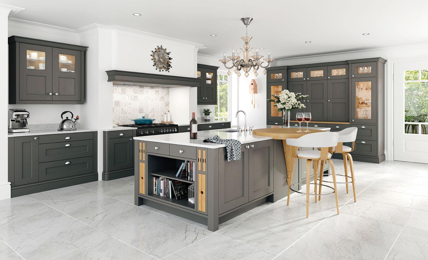 Wakefield Shaker Lava Painted Kitchen - Kitchen Design - Alan Kelly Kitchens - Waterford