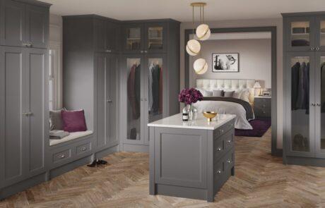 Walk In Wardrobe Storage Ideas - Alan Kelly Kitchens & Bedrooms - Waterford