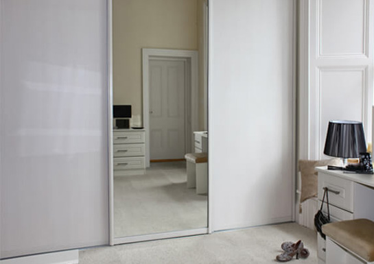 White Glass - Sliderobes - Alan Kelly Kitchens & Bedrooms - Waterford