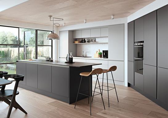 Zola Handleless Kitchen Design - Alan Kelly Kitchens - Waterford