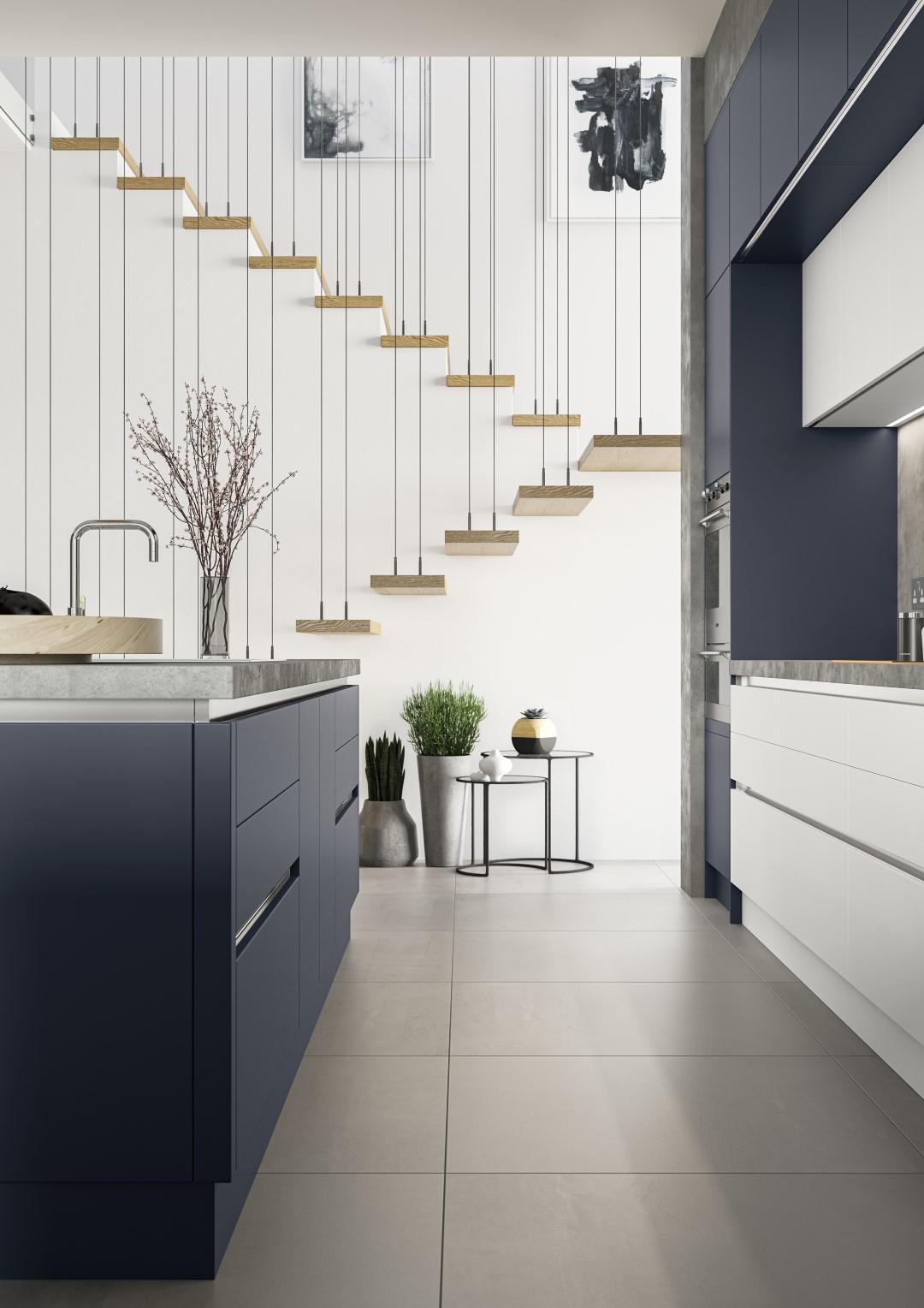 Zola Soft-Matte Indigo - Kitchen Design - Alan Kelly Kitchens - Waterford - 2