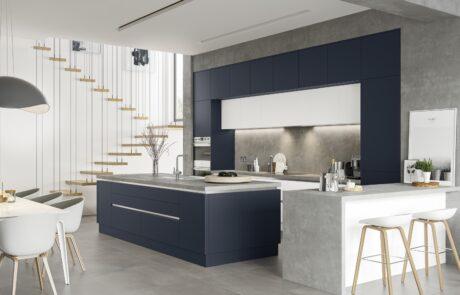 Zola Soft-Matte Indigo - Kitchen Design - Alan Kelly Kitchens - Waterford - 4