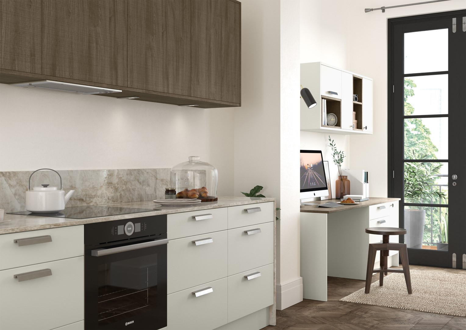 Zola Soft-Matte Porcelain and Rezana Stained Weathered Silver - Kitchen Design - Alan Kelly Kitchens - Waterford - 1