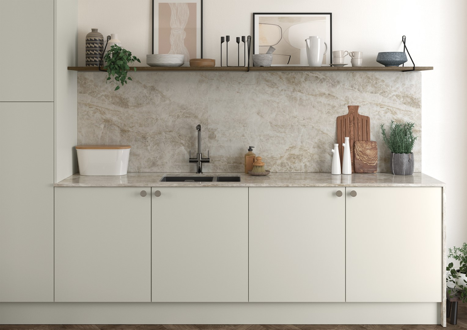 Zola Soft-Matte Porcelain and Rezana Stained Weathered Silver - Kitchen Design - Alan Kelly Kitchens - Waterford - 3