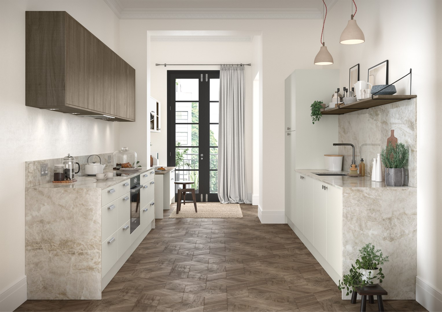 Zola Soft-Matte Porcelain and Rezana Stained Weathered Silver - Kitchen Design - Alan Kelly Kitchens - Waterford - 5